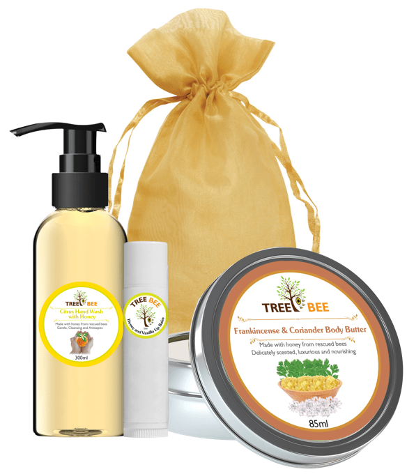 Hand Wash, Lip Balm & Body Butter Gift Set
